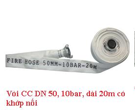 Vòi CC DN 50, 10bar, có khớp nối